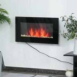 1500W Electric Fireplace Heater Wall Mounted With Remote, LE