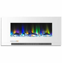 Cambridge 42  Color Changing Wall Mount Fireplace with Logs
