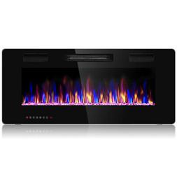 """42"""" Wall Mounted Heater Electric Fireplace Recessed Ultra Th"""