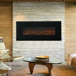 """50"""" 1500W Wall Mount Electric Fireplace Heater 3D Flame Log"""