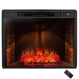 """AKDY 32"""" Electric Fireplace Freestanding Brown Wooden Mantel"""