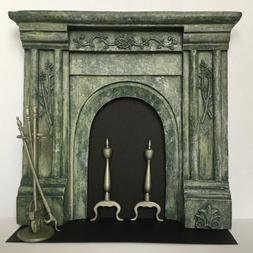 Dollhouse Miniature resin fireplace mantle, Lilliput Product