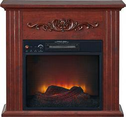 Electric Fireplace Fan Forced Heater LED Flame Freestanding