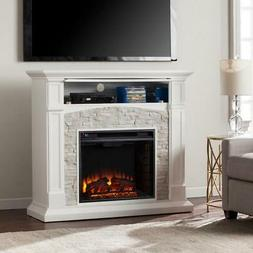Southern Enterprises Electric Fireplace TV Stand Classic Mul