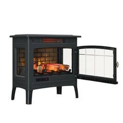 Electric Infrared Quartz Fireplace Stove with 3D Flame Effec