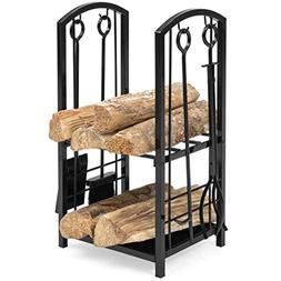 Best Choice Products Indoor Outdoor Fireplace Stackable Wrou