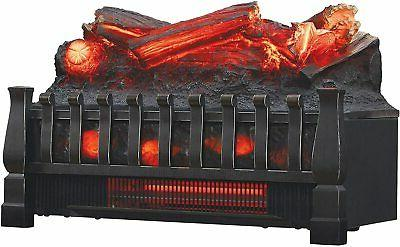 1400W Large Infrared Electric Fireplace Heater Realistic Flame Remote