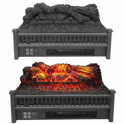 1400W Infrared Electric Fireplace Realistic Flame w/