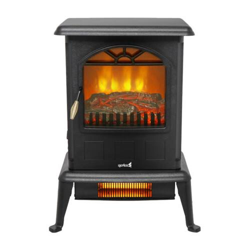 1500W Portable Fireplace Stove Space Log Flame
