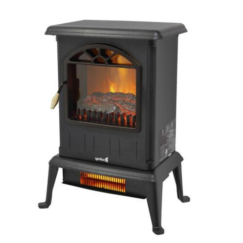 1500w portable electric fireplace stove space heater