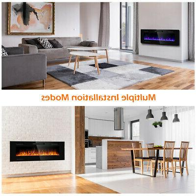 """50"""" Electric Fireplace Ultra Thin Mounted Heater Multicolor"""