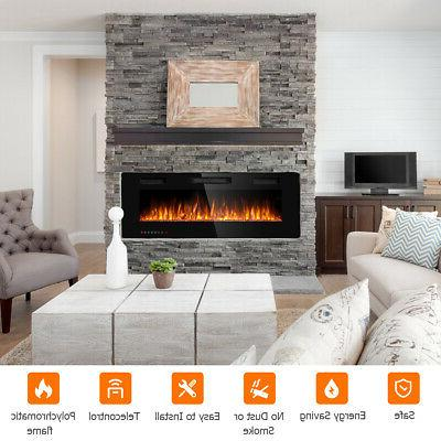 """50"""" Fireplace Ultra Thin Mounted Heater Multicolor Flame"""