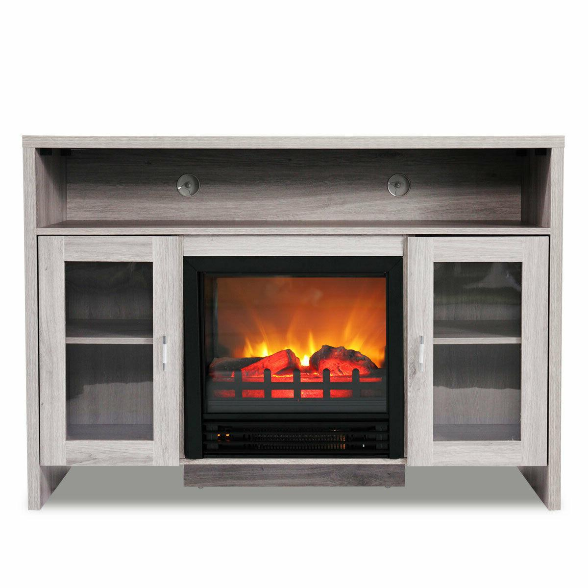 Fireplace TV Wood Storage Media Heater for up to