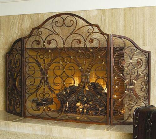 large 53 w iron rustic vintage victorian