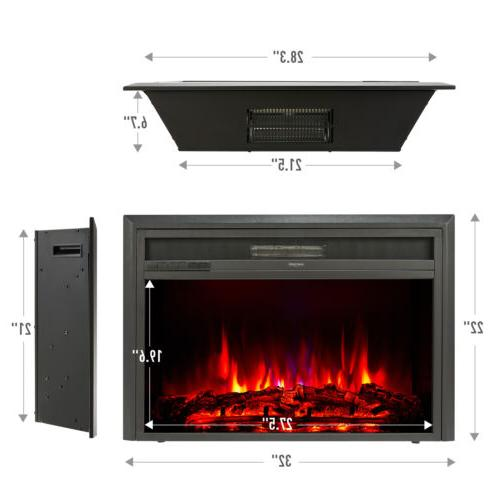 """32"""" Electric Fireplace Insert 6 Flame"""