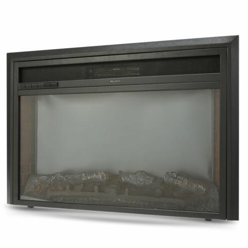 """32"""" Recessed Electric Fireplace Insert 6 Flame Effects Stands 1500W"""