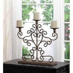 """large 24"""" tall shabby ivory distressed CANDELABRA fireplace"""