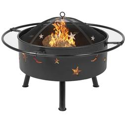 """Best Choice Products 30"""" Fire Pit BBQ Grill FireBowl Firepla"""