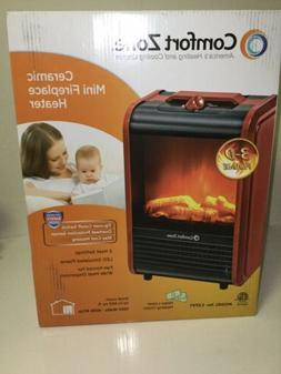Space Heater Tabletop Mini Electric Fireplace Portable 3D fl