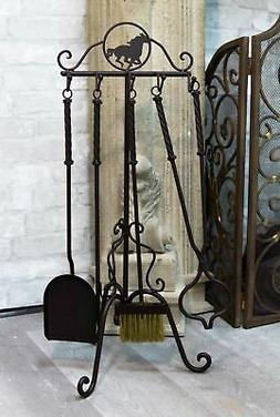 Wrought Iron Metal Western Galloping Equine Horse Fireplace